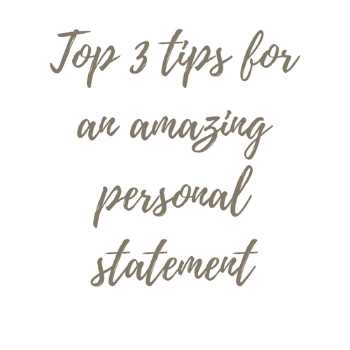 Tips for a personal statement