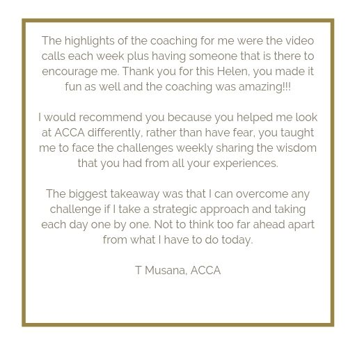 ACCA CIMA AAT Revision testimonial