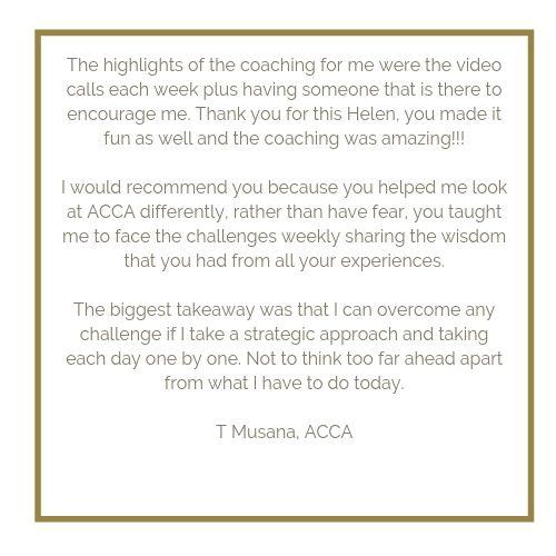 ACCA CIMA AAT Revision testimonial